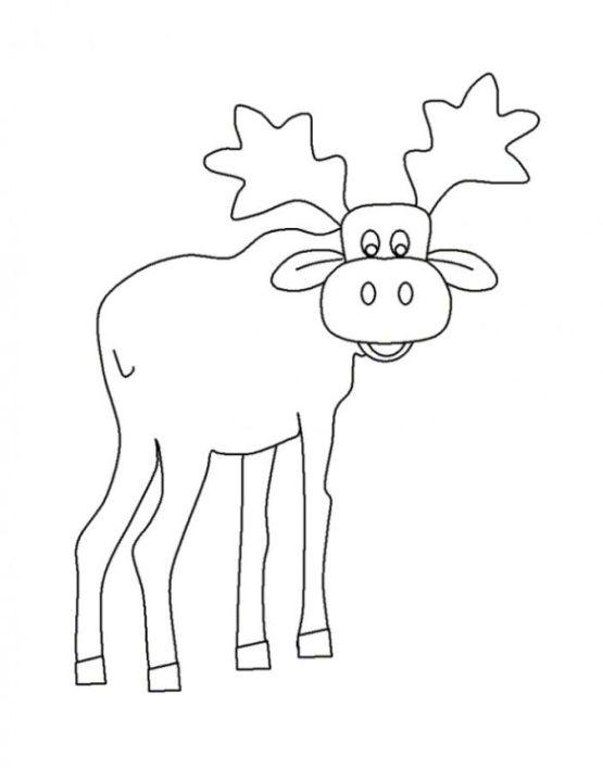 Ausmalbilder zum Drucken Malvorlage elch kostenlos 3