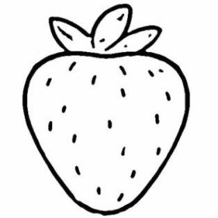 Ausmalbilder zum Drucken Malvorlage erdbeere kostenlos 1