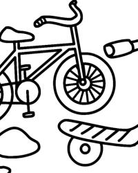 Malvorlagen von Fahrrad kostenlos zum Ausdrucken