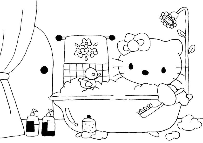 Malvorlagen-Ausmalbilder Hello Kitty Malvorlagen
