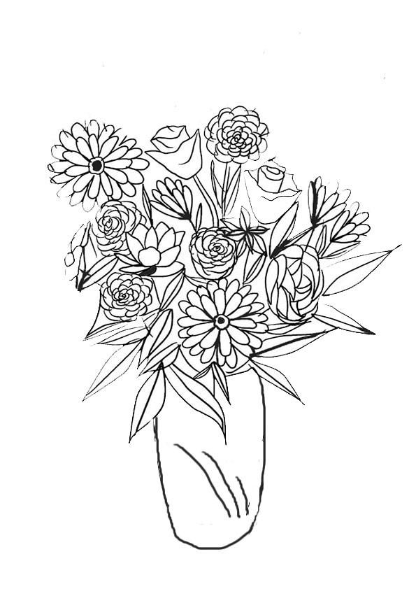 Malvorlagen- Blumen 1 Malvorlagen Ausmalbilder