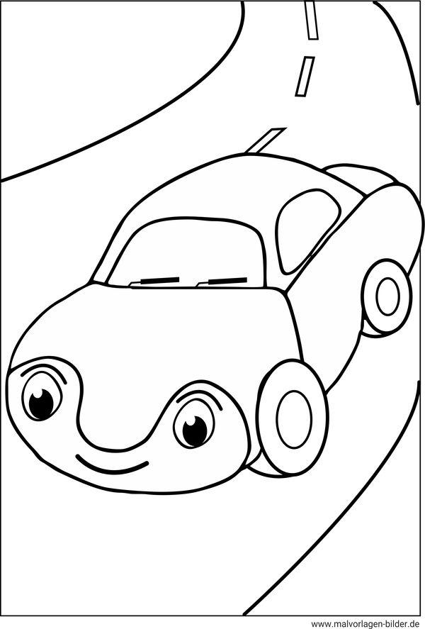 Auto als gratis Ausmalbild