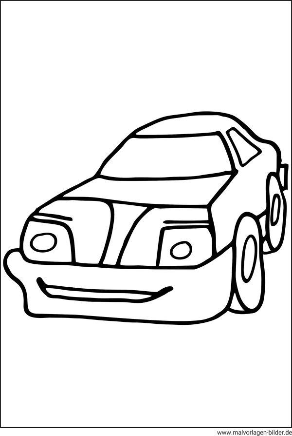 Auto - Malvorlagen und Ausmalbilder für Kinder