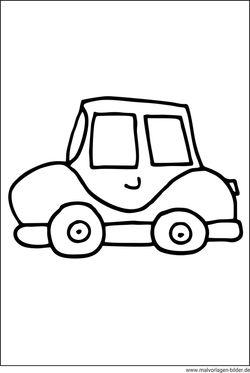 Autos - Gratis Malvorlagen Ausmalbilder zum Ausdrucken