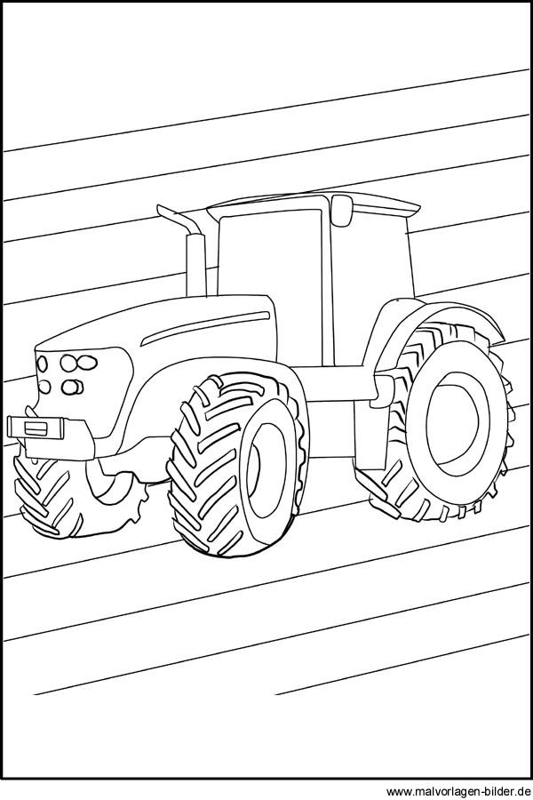 Traktor - Ausmalbilder und Malvorlagen zum Ausdrucken