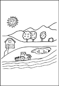 Bauernhof - kostenlose Malvorlagen und Ausmalbilder zum