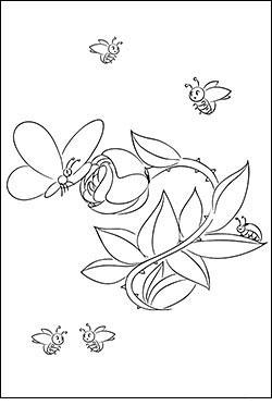 Ausmalbild Blumenranke Kinder Ausmalbilder