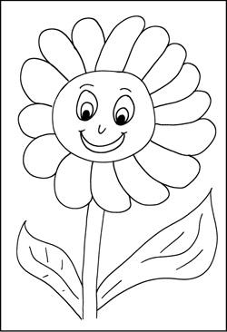 Malvorlagen von Blumen Kostenlose Window Color Bilder