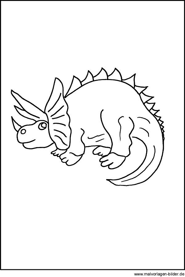 Dinosaurier - kostenlose Malvorlage für Kinder