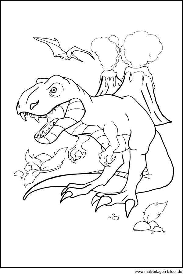 Dino malvorlagen Coloring and Malvorlagan