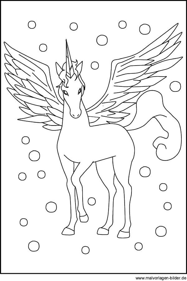 Pegasus Malvorlagen für Kinder zum Ausdrucken