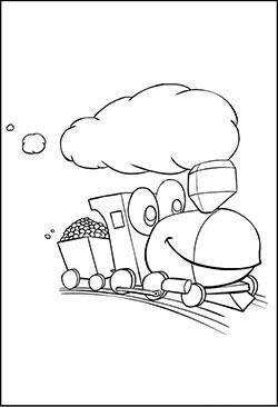 Eisenbahn - Malvorlagen zum kostenlosen Ausdrucken für Kinder