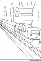 Ausmalbild von einem Zug / Schnellzug