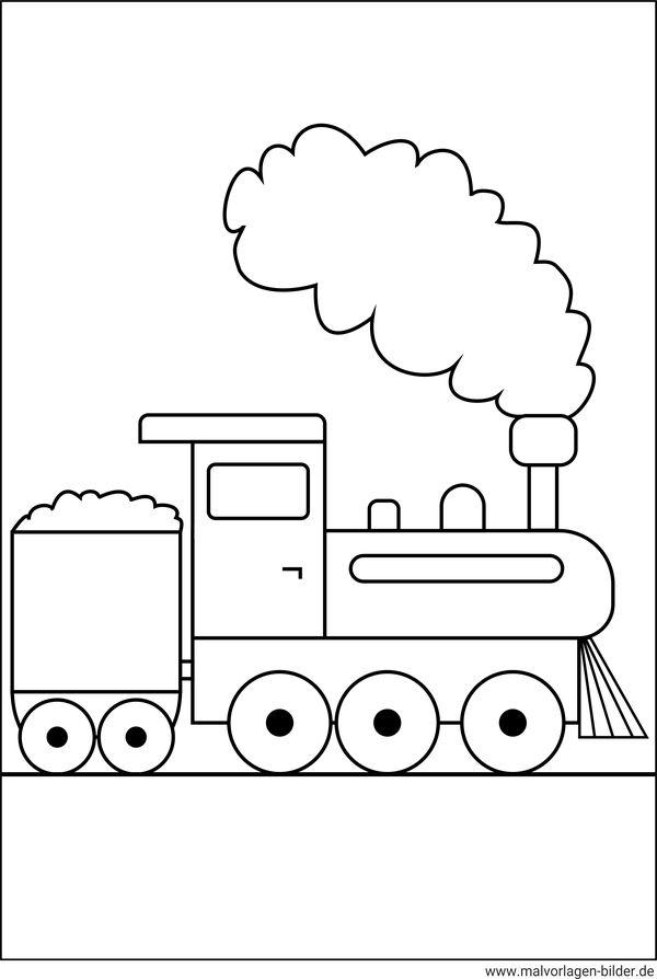 Malvorlage Lokomotive  kostenlose Ausmalbilder fr Kinde