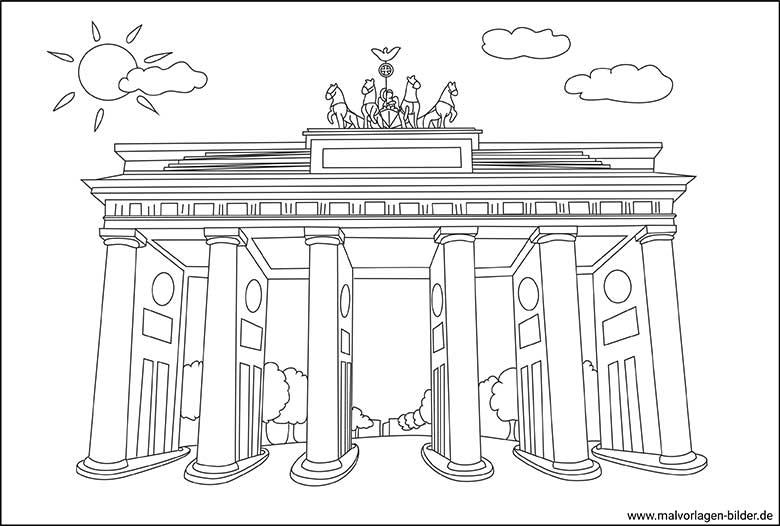 Brandenburger Tor Zum Ausmalen - Vorlagen zum Ausmalen
