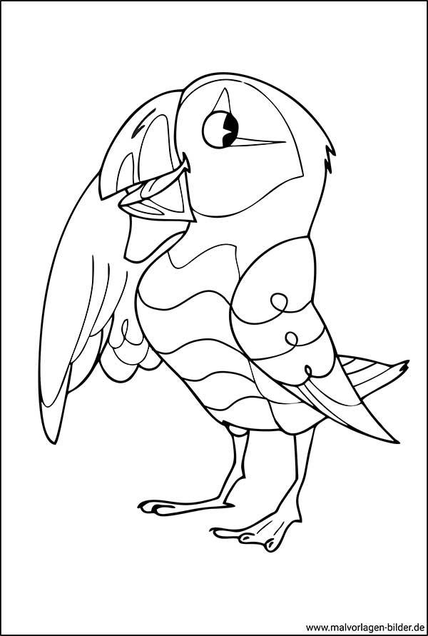 Vogel - kostenlose Malvorlage für Erwachsene
