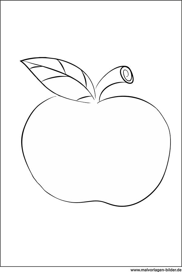 Malvorlage Apfel Gro - tiffanylovesbooks