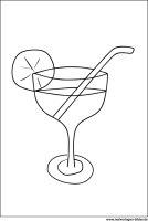 Cocktail – Ausmalbild zum Ausdrucken