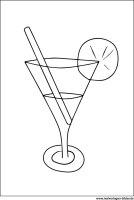 Cocktail Glas   Malvorlage zum Ausdrucken
