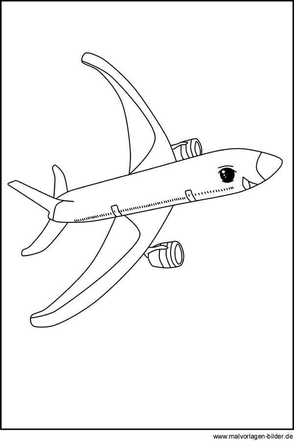 Flugzeug - Kostenlose Ausmalbilder zum Ausdrucken und Ausmalen