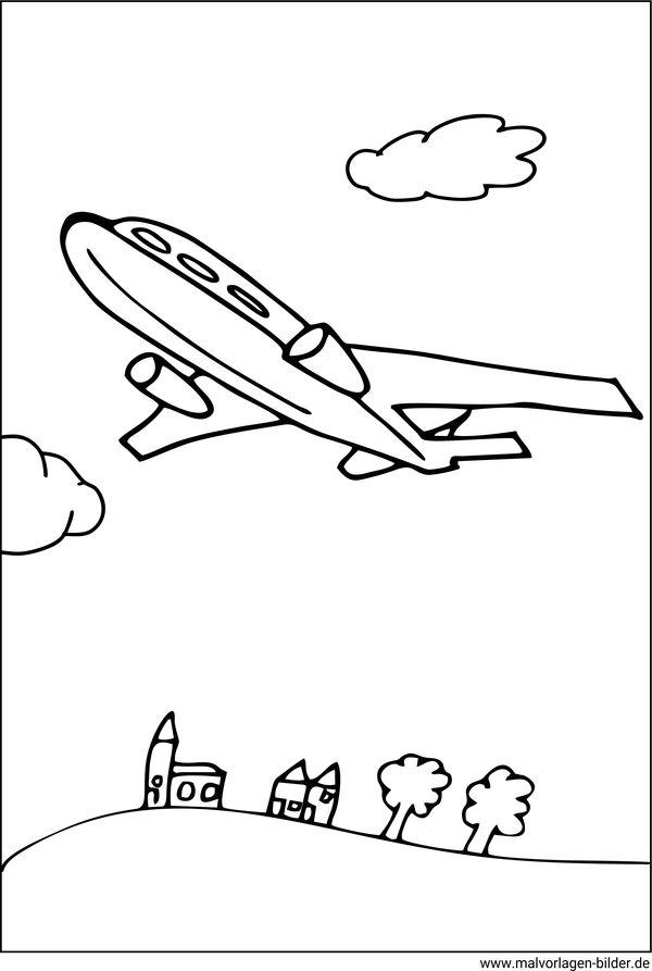 Malvorlagen Flugzeugen - Ausmalbilder zum Herunterladen