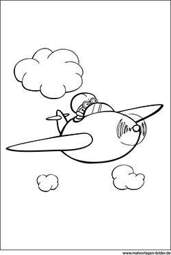Malvorlage Flugzeug Zum Ausmalen