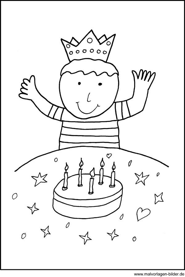 Malvorlagen zum Geburtstag  Kostenlose Window Color