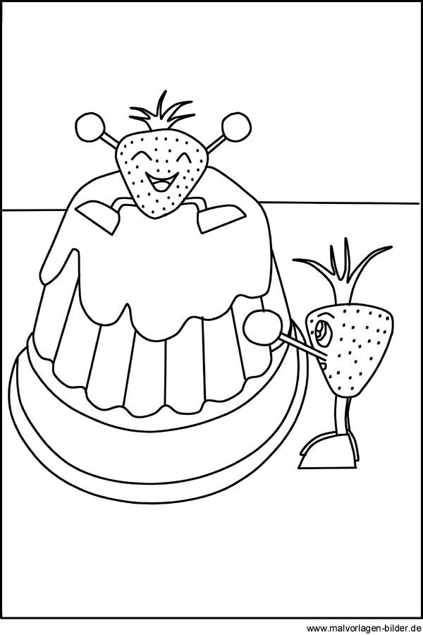 Kuchen Geburtstagskuchen als kostenlose Malvorlage