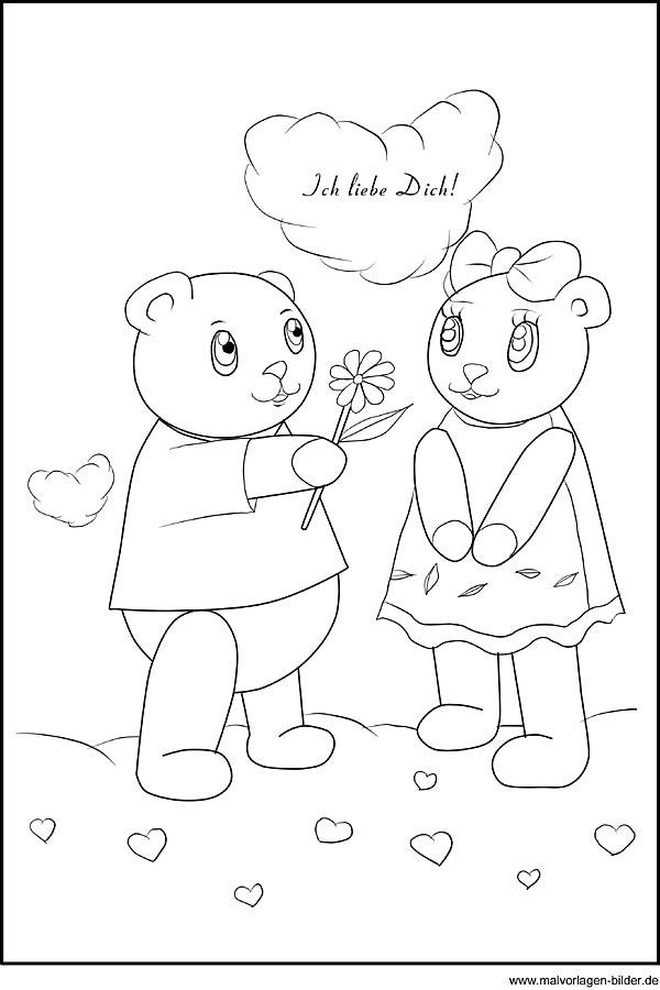 Malvorlagen Liebe Zum Valentinstag - x13 ein Bild zeichnen