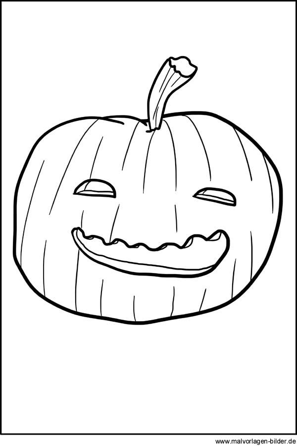 Kürbis Ausmalbilder und Window Color Bild zu Halloween