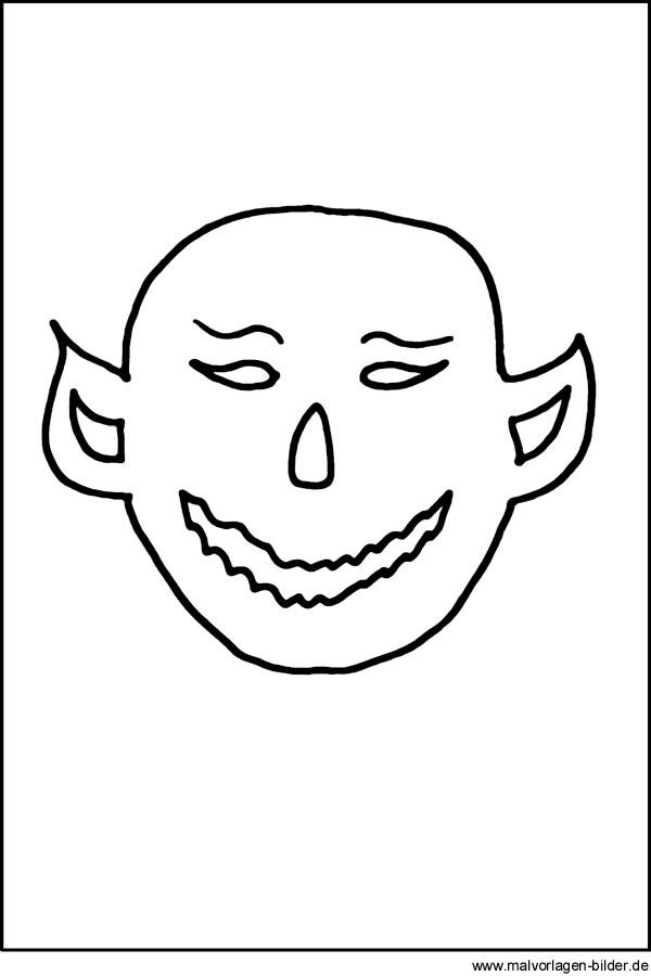 Monster Malvorlage - kostenlose Ausmalbilder zu Halloween
