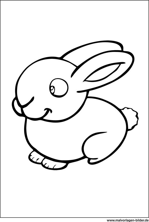 Kaninchen Malvorlagen zum Ausdrucken & Ausmalen