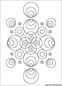 Kreise Muster Ausmalbild