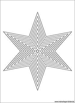 Stern Ausmalbild Für Große Kinder