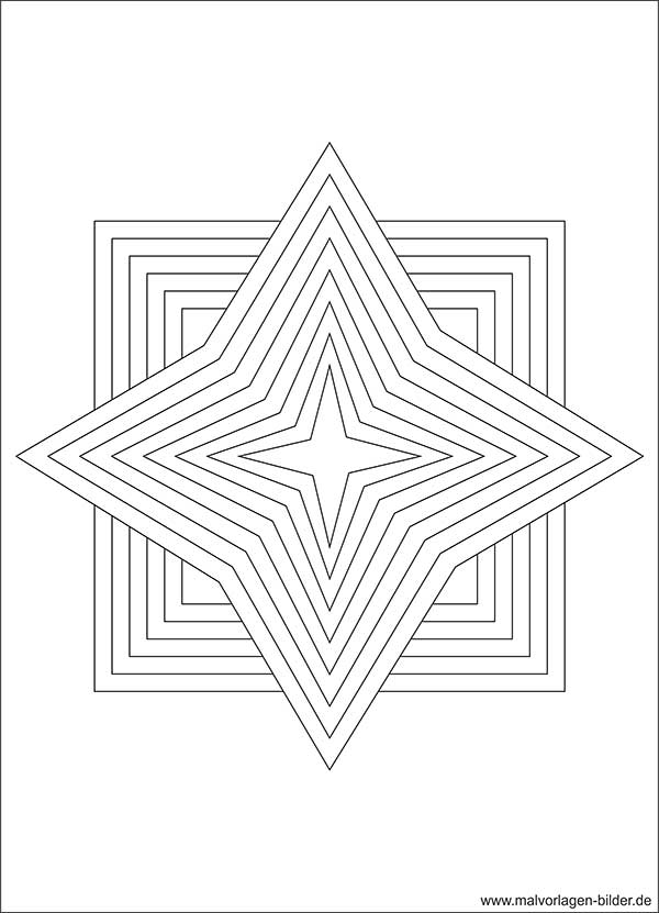 Stern Vorlage - Ausmalbilder ab 10 Jahren - Ausmalbilder