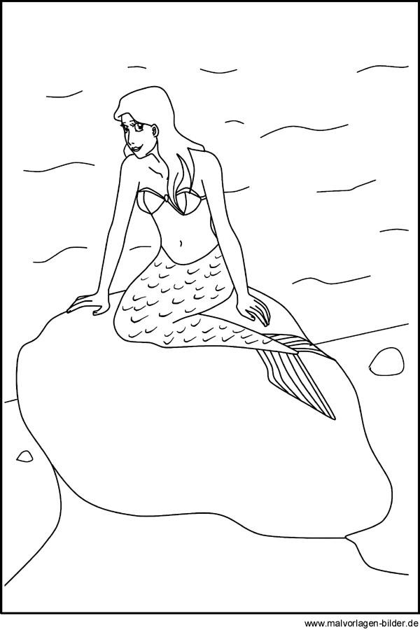 Window Color Bild von einer Meerjungfrau