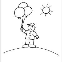 Malvorlage   Junge beim Spielen   kostenlose Ausmalbilder