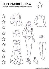 Topmodel Malvorlagen Zum Ausdrucken Ohne Kleidung