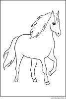 Pferd   Window Color Vorlage zum Ausdrucken