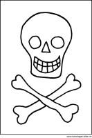 Malvorlage Totenkopf   kostenlose Ausmalbilder