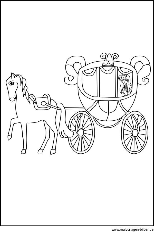 √ malvorlage pferd mit kutsche  malvorlage pferde mit kutsche