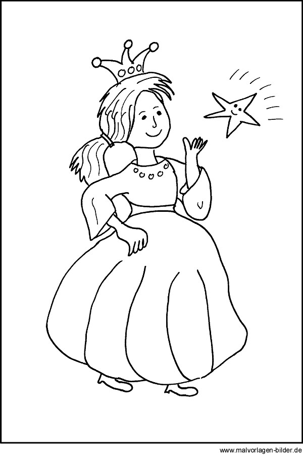 Malvorlage von einer Prinzessin für Kinder