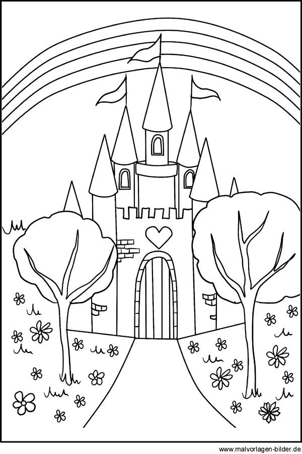 Malvorlagen - Schloss Märchenschloss