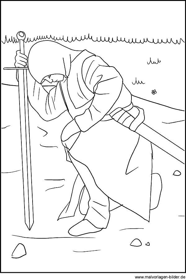 Knappe Ritterschlag Gratis Malvorlagen Und Ausmalbilder
