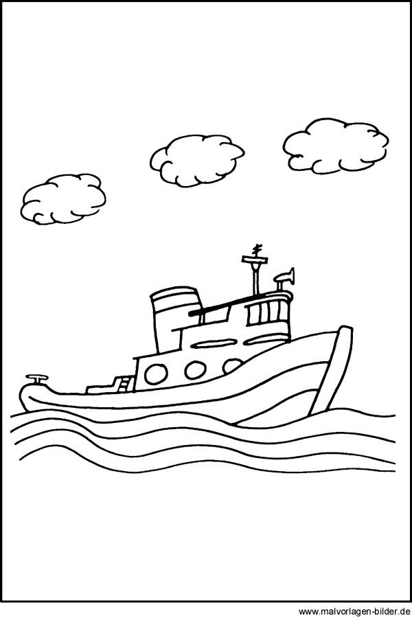 Malvorlagen Von Schiffen Und Booten