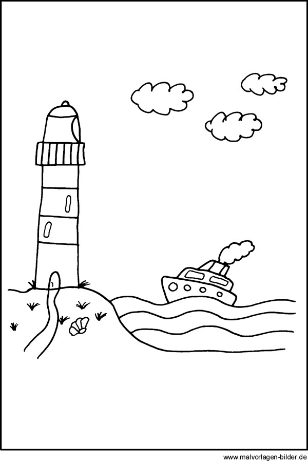 Malvorlagen Leuchtturm - kostenlose Ausmalbilder downloaden
