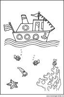 Schiff Boot   Kostenlose Ausmalbilder für Kinder