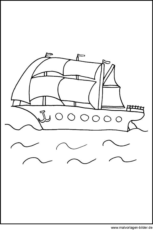 Malvorlage Segelboot Ausmalbilder Fr Kinder