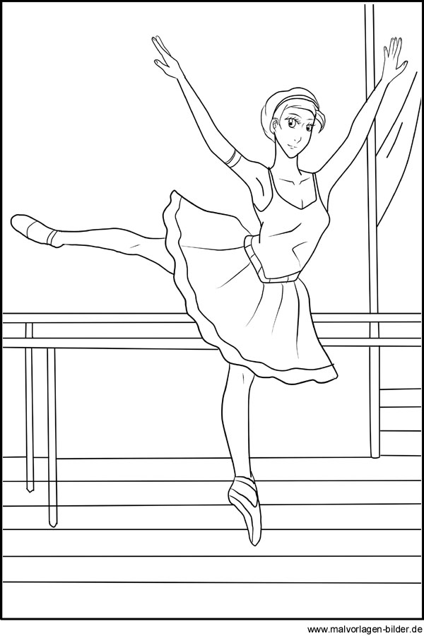 Ballett Ballerina - Malvorlagen und Ausmalbilder