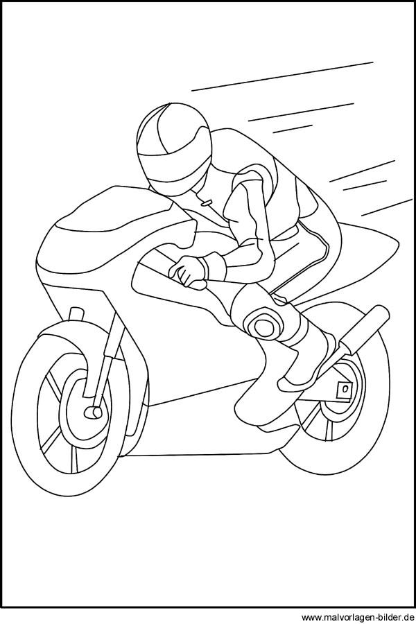 Motorrad Ausmalbilder - Gratis Malvorlagen zum Ausmalen